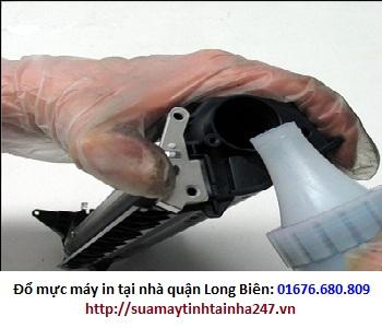Đổ mực máy in tại nhà quận Long Biên
