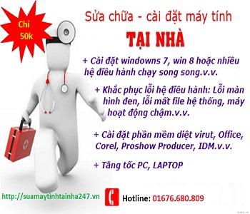 Sửa máy tính tại nhà giá rẻ Hà Nội