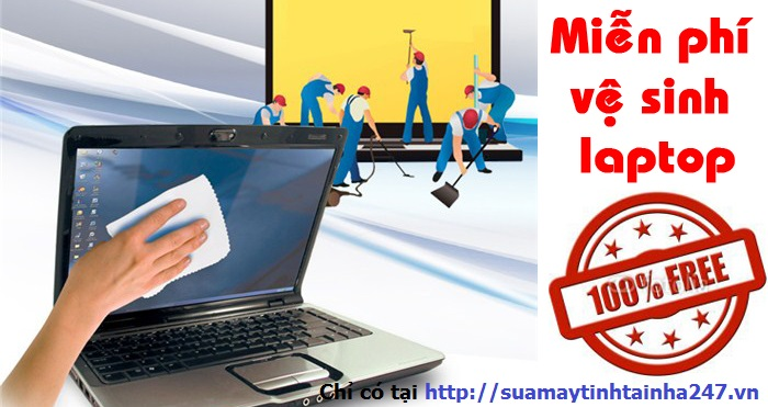 Miễn phí vệ sinh laptop
