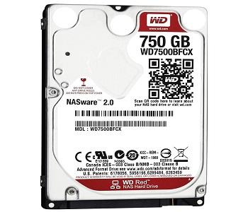 Ổ cứng HDD Western Red 750GB chính hãng