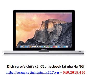 Sửa chữa cài đặt macbook tại nhà Hà Nội