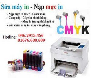 Đổ mực máy in màu chính hãng tại Hà Nội