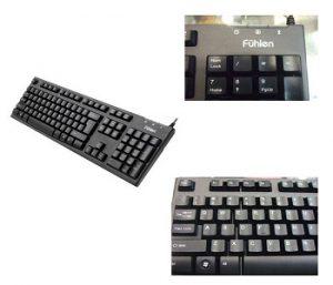 Bàn phím máy tính Fuhlen L411